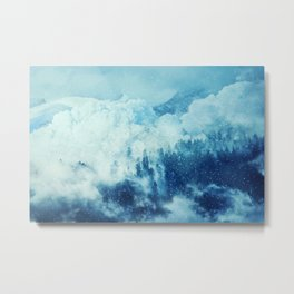 avalanche in mountains Metal Print