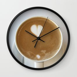 Hot Coffee Love Wall Clock