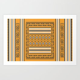 Maldivian Traditional Mat Art Print