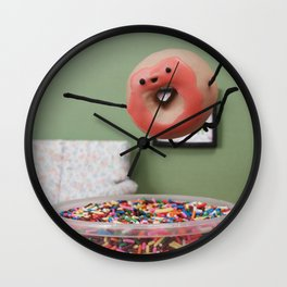 Party Like a Donut Wall Clock