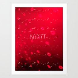 ADRIFT RED Art Print