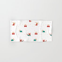 Dogs holiday costumes pattern Hand & Bath Towel