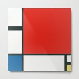 Composition II en rouge, bleu et jaune, Piet Mondrian, 1930 Metal Print