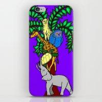 safari iPhone & iPod Skins featuring Safari by Madame Mim
