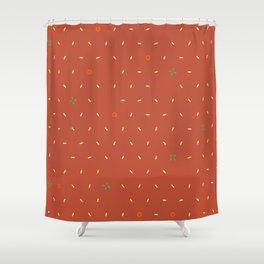 christmas confetti Shower Curtain