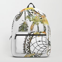 Watercolor floral dream catcher Backpack
