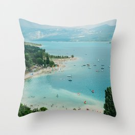 Lac Du Sainte Croix Throw Pillow