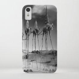 -Caravan Dali-   black and white iPhone Case