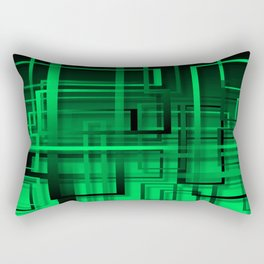 Black and green abstract Rectangular Pillow