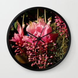 Medinilla Magnifica Wall Clock