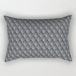 Medieval Fantasy   Metal scales  pattern Rectangular Pillow