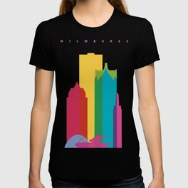 Shapes of Milwaukee. Accurate to scale T-shirt