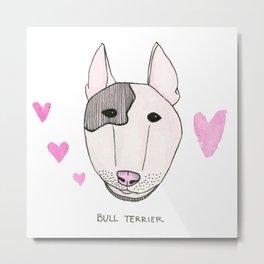 Bull Terrior Metal Print