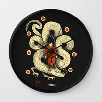dbz Wall Clocks featuring dbz by Louis Roskosch