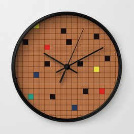 Crossword Puzzle Tan #GraphicDesign Wall Clock