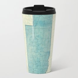 Nebraska State Map Blue Vintage Travel Mug