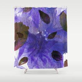 Watercolor Purple Mirage Shower Curtain