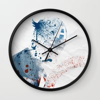 soldier Wall Clocks featuring The Soldier by Arian Noveir