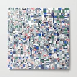 Geometric Grid of Colors Metal Print