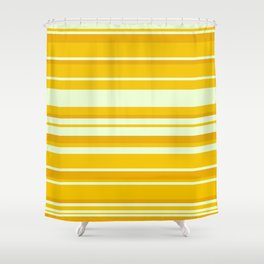 Yellow Minimal Art Lines 12 Shower Curtain