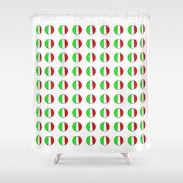 Flag of Italy in a polka dot - Italy,Italia,Italian,Latine,Roma,venezia,venice,mediterreanean,Genoa, Shower Curtain