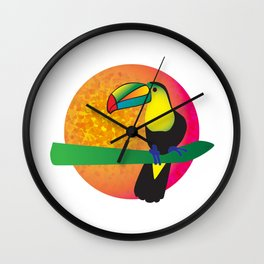 Toucan - White Wall Clock