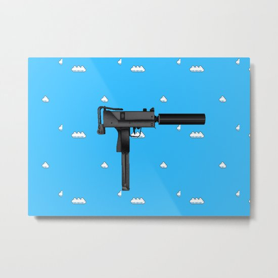 Aesthetic Gun And Clouds Metal Print By Moth Children