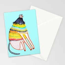 cat by Ashley Percival. Stationery Cards
