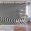 Black and White Pop Art Optical Illusion Lines by lebensartdesign