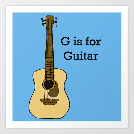 G is for Guitar Art Print