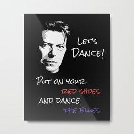 Let's Dance Song Lyric Art Print Metal Print