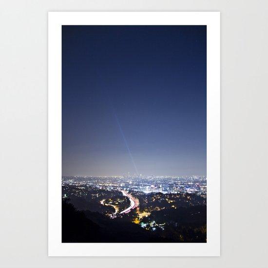 LA Night Art Print