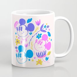 """""""Mickey Mouse Floral Pop"""" by Jenny Chang-Rodriguez Coffee Mug"""