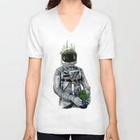 cacti V-neck T-shirts featuring Cacti | Spaceman No:1 by FAMOUS WHEN DEAD