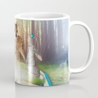 roald dahl Mugs featuring Believe In Magic • (Bambi Forest Friends Come to Life) by soaring anchor designs