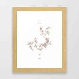 The Art in Pi - 1000 digits walk Framed Art Print