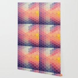 COLORFUL RETRO HEXAGONS HONEYCOMB Wallpaper