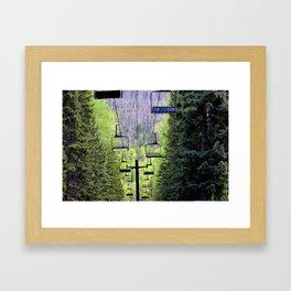 Ski Green Framed Art Print