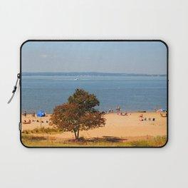 North East Beach, Coastal, Nautical Art, Chesapeake Bay, Maryland  Laptop Sleeve