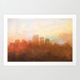 Louisville, Kentucky Skyline - In the Clouds Art Print