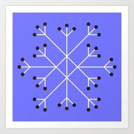 Mod Snowflake Purple Art Print