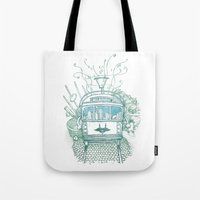 melbourne Tote Bags featuring Melbourne by Raul Garderes