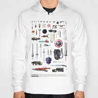 bands Hoodies featuring Famous Weapons by Daniel Nyari