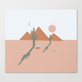 High Desert Shadows Canvas Print