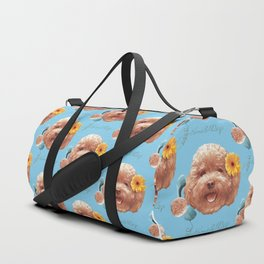 Toy Poodle Puppy Face Duffle Bag