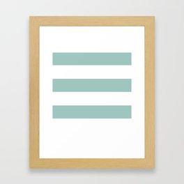 Maine Ocean Cabana Stripes Framed Art Print