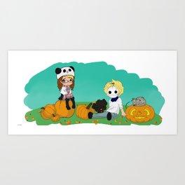 Chey & Cry Pumpkin Fest Art Print