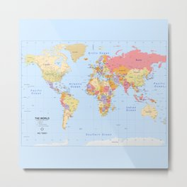Political Map of The World - I Metal Print