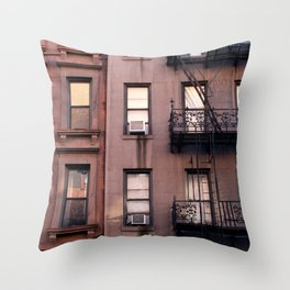 new york balconies Throw Pillow