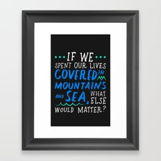 covered in sea Framed Art Print